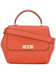 Bally Flip Lock Shoulder Bag Red