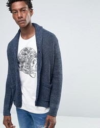 Denim And Supply Ralph Lauren Cardigan With Shawl Neck In Rib Navy Blue