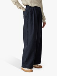 eef5f0392f43 Toast Cotton Linen Wide Leg Trousers Slate