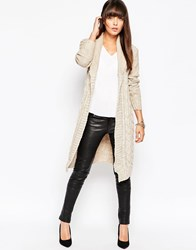 Lipsy Shawl Maxi Cardigan 129Neutral