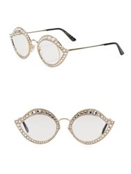 Gucci Crystal Studded Cat Eye Glasses Gold
