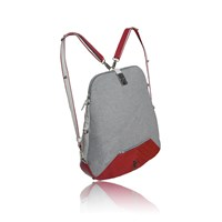 Tika Urbanita Wool And Leather Convertible Backpackred