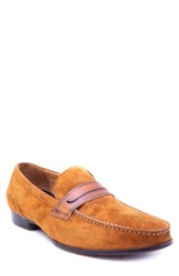 Zanzara Opie Penny Loafer Cognac Suede Leather