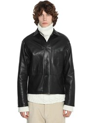 Haider Ackermann Unlined Leather Jacket Black
