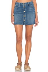 Mother The Snap Down Mini Skirt Blue