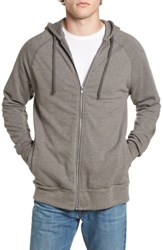 Alternative Apparel Men's Franchise French Terry Hoodie Vintage Coal