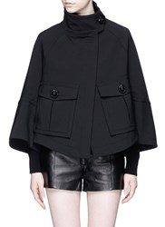 Theory 'Christoris' Double Faced A Line Twill Coat Black