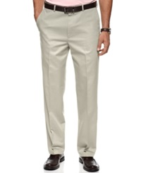 Haggar Pants No Iron Cotton Classic Fit Flat Front String