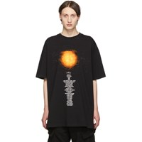 Vetements Black Sun Planet Number T Shirt