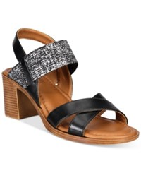 Easy Street Shoes Tuscany Perlita Sandals Women's Black Silver