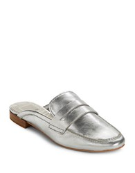 Dolce Vita Cybil Leather Mules Silver
