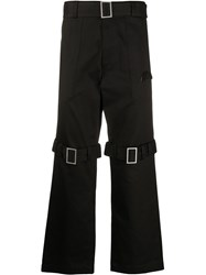 Palm Angels Buckle Detailed Straight Trousers 60