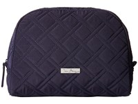 Vera Bradley Large Zip Cosmetic Classic Navy Cosmetic Case
