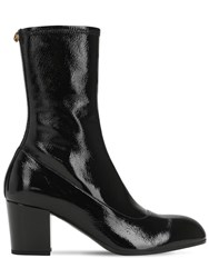 Gucci 75Mm Patent Leather Boots Black