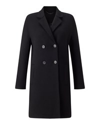 Jigsaw Raw Edge Jersey Coat Black
