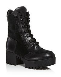 Kendall And Kylie Phoenix Combat Booties Black