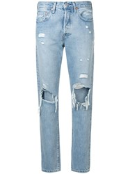 Levi's Made And Crafted Classic Ripped Jeans Blue