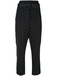 Alice Mccall Oscar Polka Dot Print Trousers Black