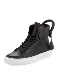 Buscemi Men's 125Mm Leather High Top Sneaker Black