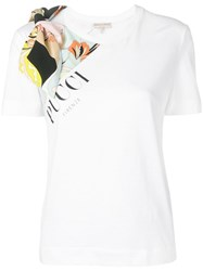 Emilio Pucci Bow Embellished T Shirt White