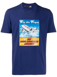 Love Moschino Airlines T Shirt Blue
