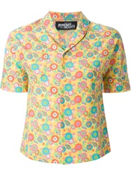 Jeremy Scott Shawl Collar Printed Shirt Multicolour