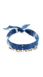 Dannijo Amabel Choker Necklace Indigo Blue Multi