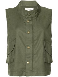 The Great Army Vest Women Cotton Linen Flax Polyurethane Tencel 0 Green