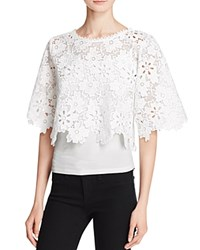 Gracia Sheer Lace Crop Top Compare At 86 White