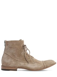 Pantanetti 25Mm Zip And Lace Up Suede Boots Antilop