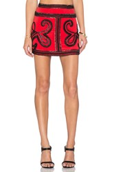 Karina Grimaldi Vero Beaded Skirt Red
