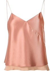 Edun Twill Satin Bias Camisole Pink And Purple