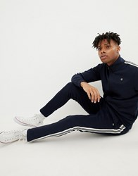 Jack And Jones Core Slim Fit Track Jogger With Side Stripe Sky Captain Navy