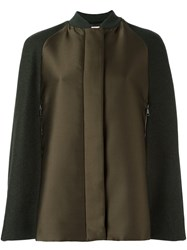 Giamba Military Style Cape Coat Green