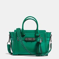 Coach Rip And Repair Swagger 27 In Glovetanned Leather Dark Gunmetal Forest