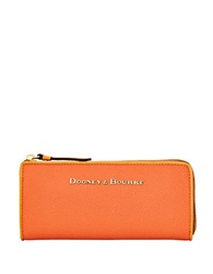 Dooney And Bourke Claremont Leather Wallet Orange