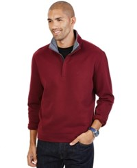 Nautica Quarter Zip Front Fleece Burgundy