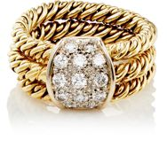 Mahnaz Collection Vintage Women's Braided Triple Band Ring Gold