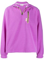 Gcds Pile Fleece Sweatshirt Purple