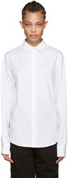 Hood By Air White Poplin Stingray Shirt