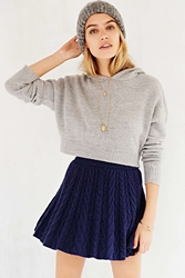 Kimchi And Blue Kimchi Blue Flirty Cable Knit Sweater Skirt Sapphire