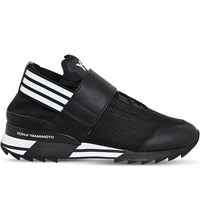 Adidas Y3 Atira Textile And Mesh Trainers Black White