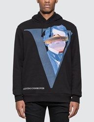 Undercover Valentino X V Face Hoodie Black