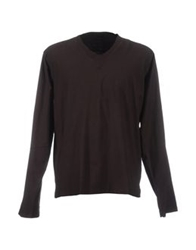 Bruuns Bazaar Long Sleeve T Shirts Dark Brown