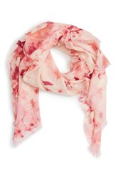 Nordstrom Women's Graceful Hanami Cashmere And Silk Scarf Pink Combo