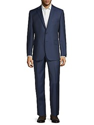 Saks Fifth Avenue Classic Wool Suit Navy
