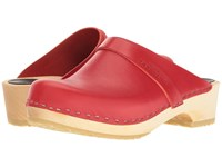 Swedish Hasbeens Husband Red Women's Clog Shoes