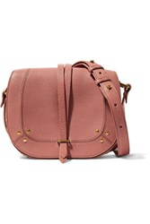 Jerome Dreyfuss Victor Embellished Textured Leather Shoulder Bag Antique Rose