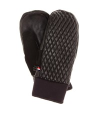 Fusalp Athena Leather Ski Mittens Black