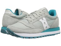 Saucony Jazz Original Light Grey Green Women's Classic Shoes White